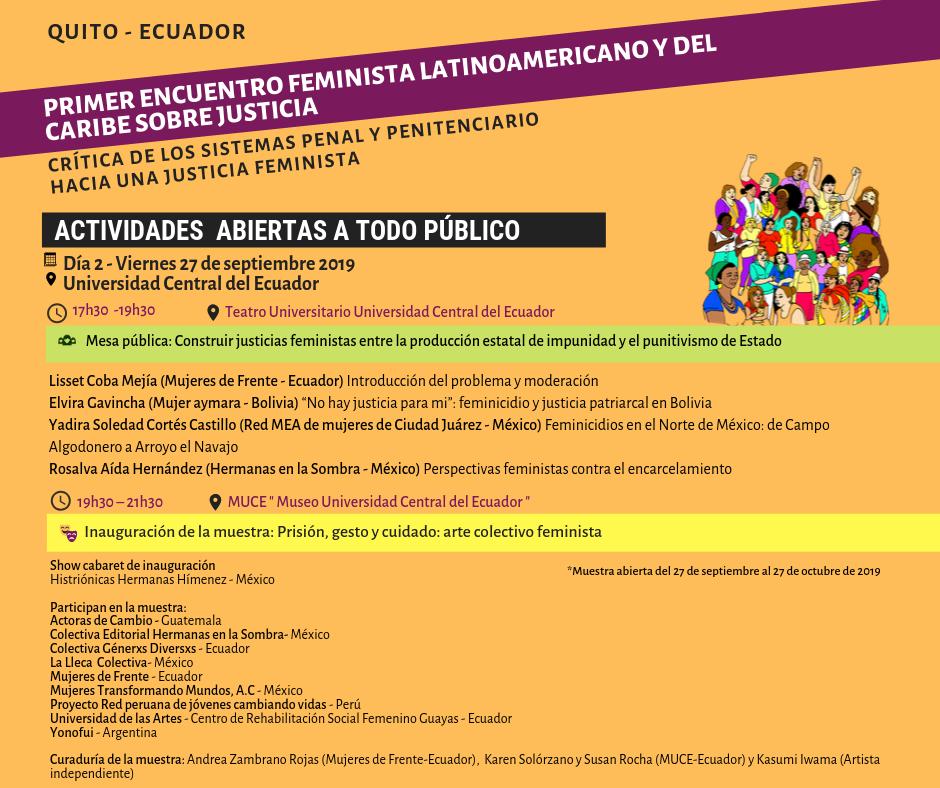 Mesa pública_ Repensar la justicia en y desde los feminismos latinoamericanos y del Caribe, hoy (2)