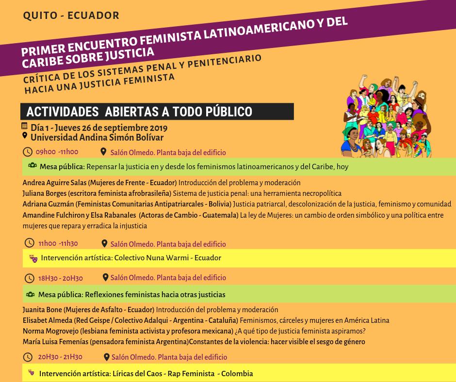 Mesa pública_ Repensar la justicia en y desde los feminismos latinoamericanos y del Caribe, hoy (3)